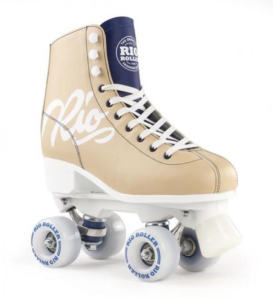 Rio Roller Script Quad Skates Tan/Blau