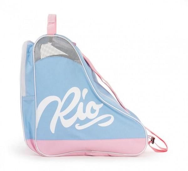 Rio Roller Script Skate Bag Rollschuhe Tasche Blau/Rosa