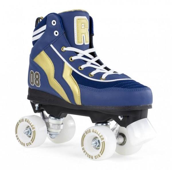 Rio Roller Varsity Quad Skates Blau/Gold