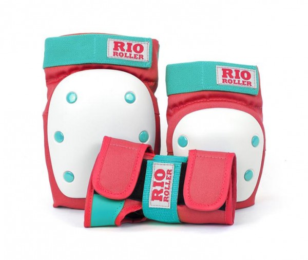 Rio Roller Triple Pad Protektoren Red/Mint