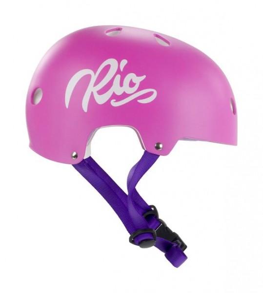 Rio Roller Script Helm Pink