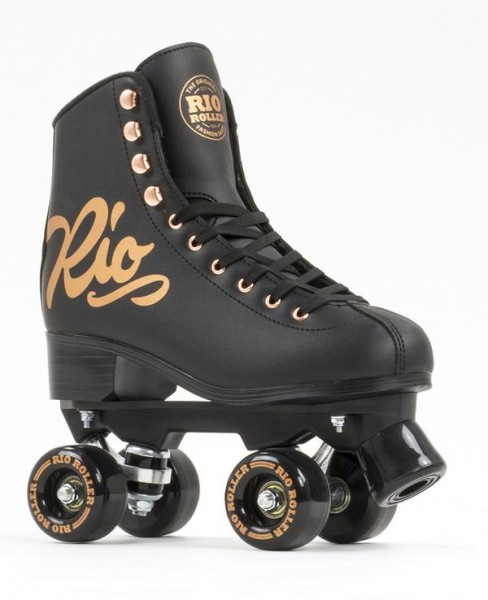 Rio Roller Figure Pro Quad Skates Rose Black