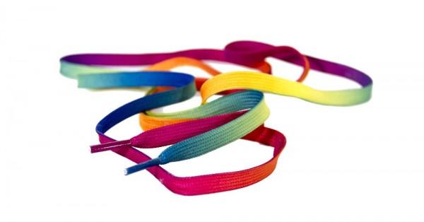 Rio Roller Schnürsenkel Rainbow
