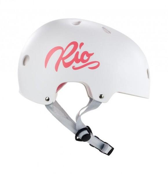Rio Roller Script Helm Mattweiß