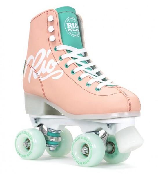 Rio Roller Script Quad Skates Peach