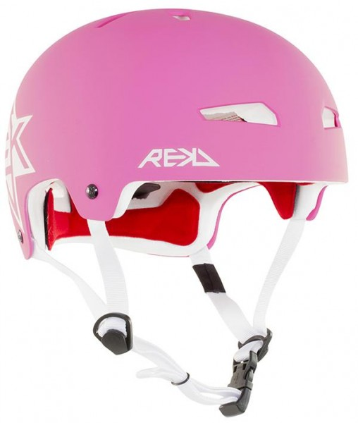 REKD Elite Icon Helm Pink/Weiß