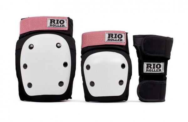 Rio Roller Triple Pad Schoner Protektoren Schwarz/Rose