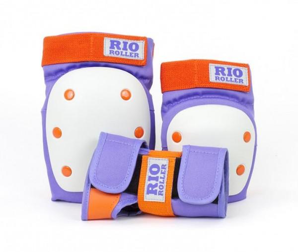 Rio Roller Triple Pad Schoner Protektoren Purple/Orange