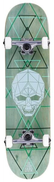 Enuff Geo Skull Complete Skateboard Grün
