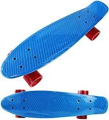 Penny Board blau mit roten Rollen