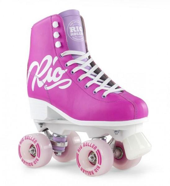 Rio Roller Script Quad Skates Pink