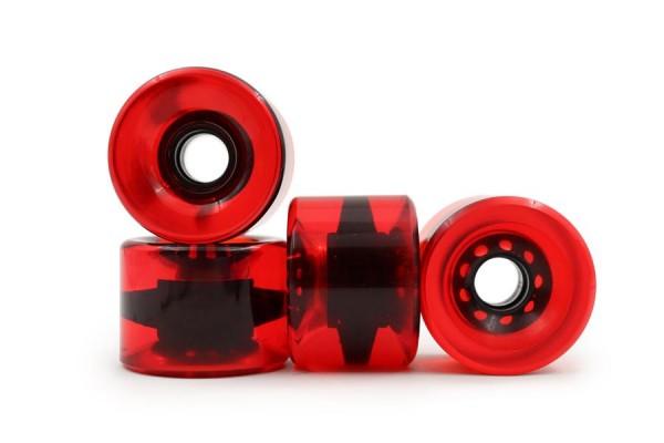 Rollschuhe.de RS 71 Rot Durchscheinend