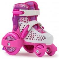SFR Stomper Größenverstellbare Rollschuhe Pink / Weiss 1