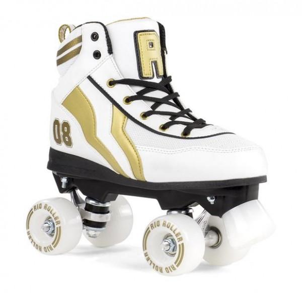 Rio Roller Varsity Quad Skates Weiß/Gold