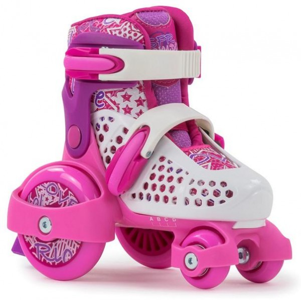 SFR Stomper Größenverstellbare Rollschuhe Pink / Weiss