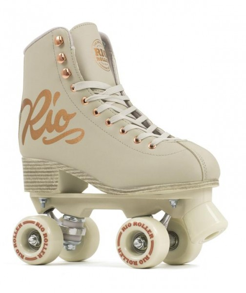 Rio Roller Figure Pro Quad Skates Rose Cream